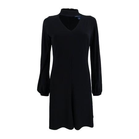 american living women's choker fit & flare dress](America Dress)