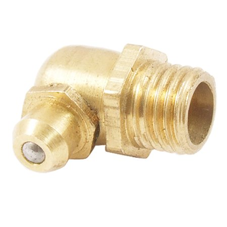 Unique BargainsBrass Male Thread M8 90 Degree Angle Grease Nipple Zerk Fitting