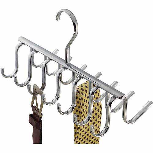 InterDesign Axis Closet Organizer Rack for Ties, Belts, Chrome