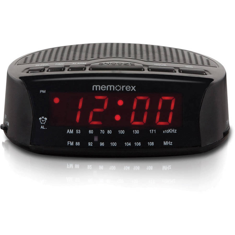 memorex am fm radio alarm clock electric digital red led w snooze free shipping ebay. Black Bedroom Furniture Sets. Home Design Ideas