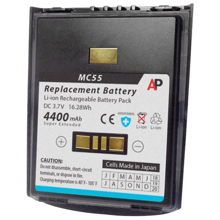 Motorola / Symbol MC55 & MC65 Series: Replacement Battery. 4400 mAh Super Extended Capacity