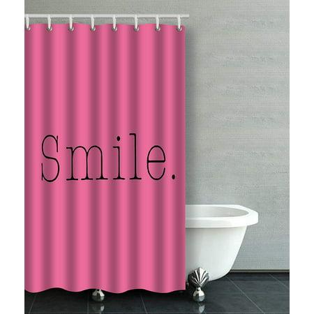 fascinating hot pink black bathroom | WOPOP Smile Light Hot Pink And Black Smile Quote Bathroom ...