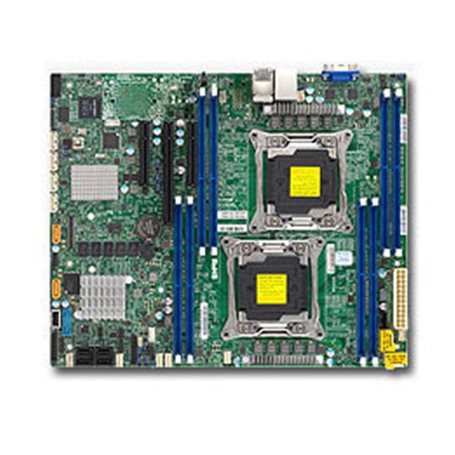 Supermicro MBD-X10DRL-C-B LGA2011 Xeon E5-2600v3 C612 DDR4 PCI Express SATA ATX Motherboard, Brown Box