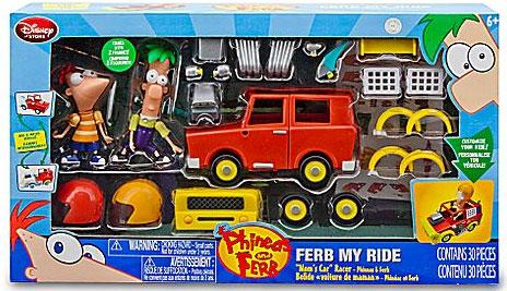 Disney Phineas and Ferb Ferb My Ride Mom's Car Racer by