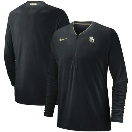Baylor Bears Nike 2018 Coaches Sideline Performance Quarter-Zip Jacket - Heathered Black