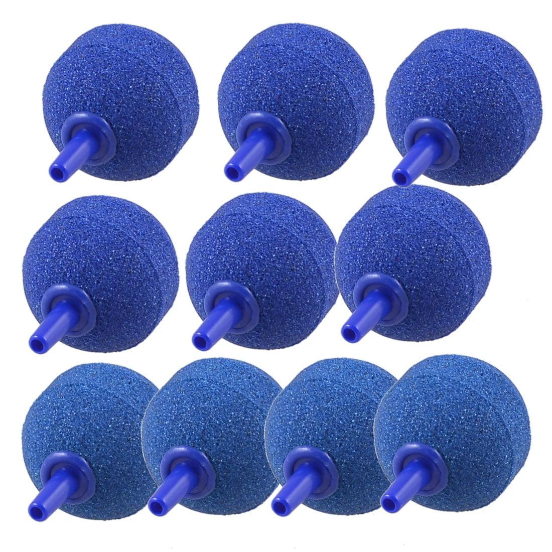 Blue 30mm Sphere Shape Mineral Bubble Release Aquarium Air Stone 10 Pcs