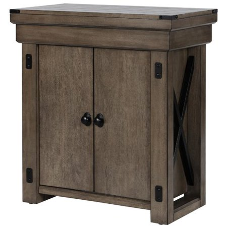 Ameriwood Home Wildwood 20 Gallon Aquarium Stand, Rustic Gray