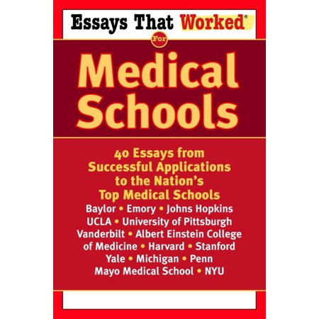 Essays that Worked for Medical Schools - eBook