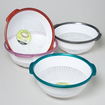 Colander 12 Inch With Colored Rim In Pdq 134G Bowl 22  Case Pack Of 48
