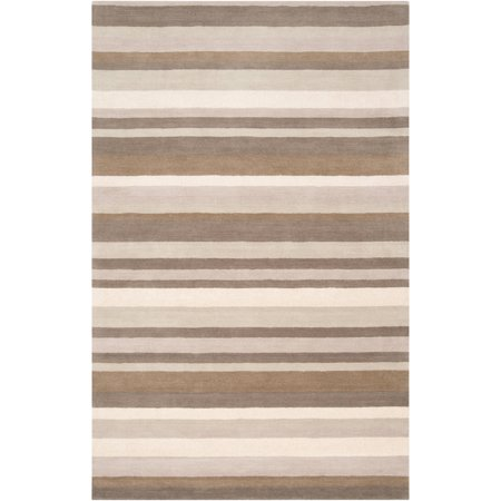 Loomed Grey Madison Square Wool Area Rug 8 X 10