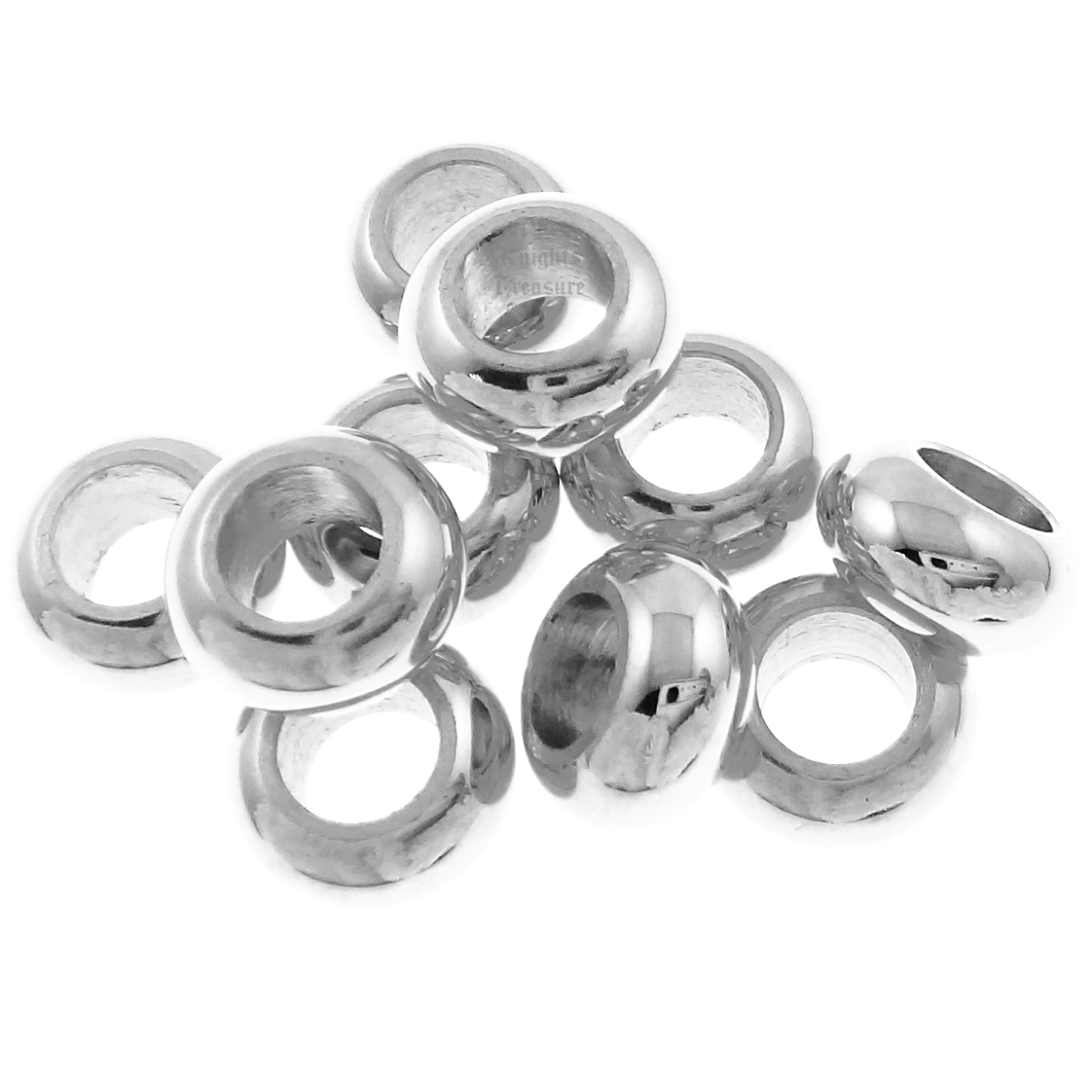 Beads and Charms for Pandora Charm Bracelets Stainless Steel Spacers