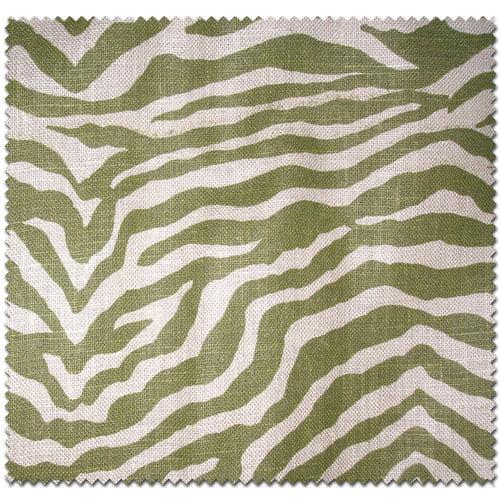 Textile Creations Home Decor Burlap, Zebra, Green