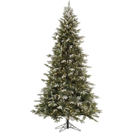 Vickerman 9' Frosted Balsam Fir Artificial Christmas Tree with 1050 Clear Lights ()