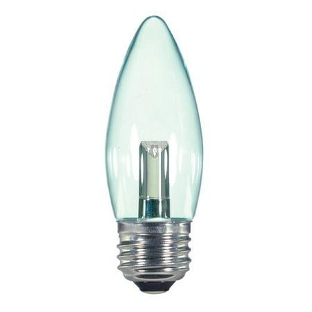 SatcoProductsandLighting 1 Watt (15 Watt Equivalent), B11 LED, Non-Dimmable  Light Bulb, Warm White (2700K) E26/Medium (Standard) Base