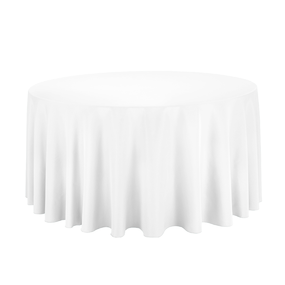 96 inch round tablecloth - Round Economy Polyester Tablecloth White