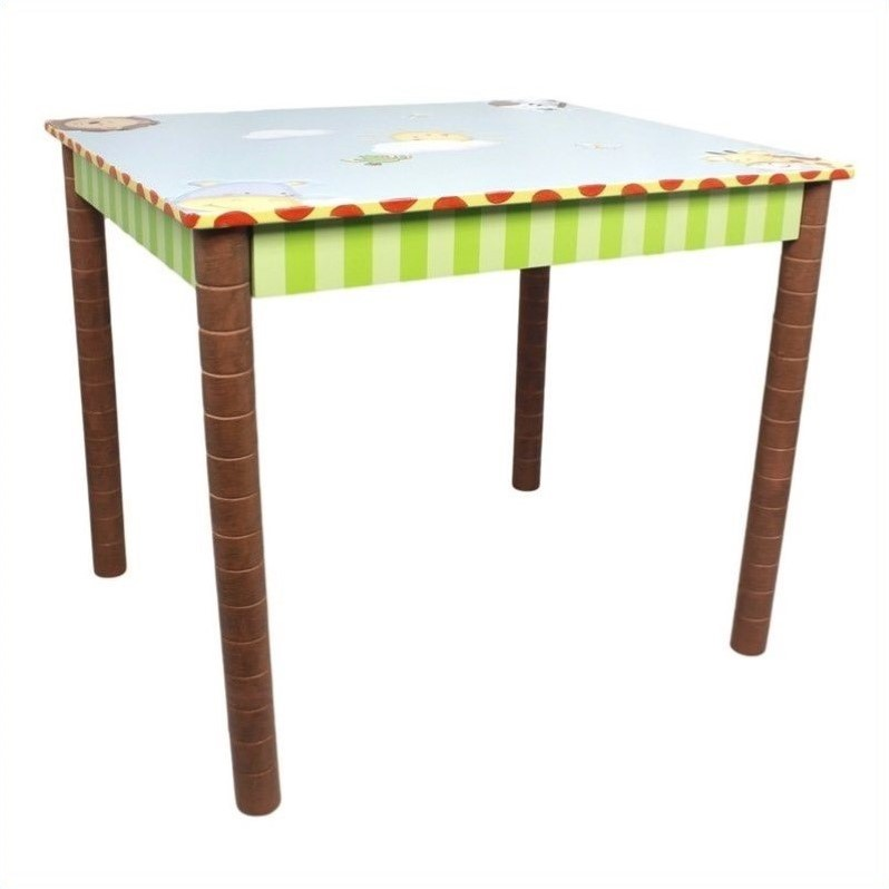 Fantasy Fields Hand Painted Sunny Safari Table by Teamson Design