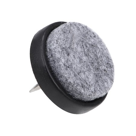 Nail On Furniture Felt Pads Glide Chair Table Leg Protector 28mm Dia Black 46pcs - image 2 of 5