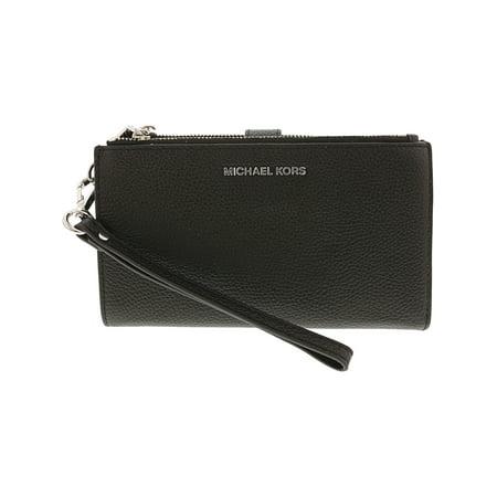 28ad72b5460d Michael Kors Women s Adele Leather Smartphone Wristlet - Black - Walmart.com