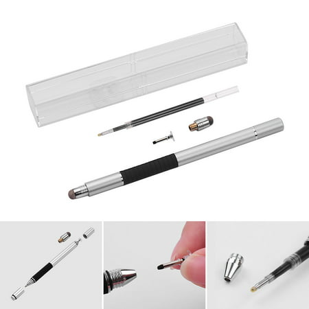 3 in 1 Precision Stylus Pen with Refill and Disc Tip and Fiber Tip Capacitive Touchscreen Stylus Pen Set For Cellphone Tablet -