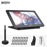 BOSTO BT-16HDT Portable 15.6 Inch H-IPS LCD Graphics Drawing Tablet Display Support Capacitive Touchscreen 8192 Pressure Level Passive Technology USB-Powered Low Consumption Drawing Tablet with Intera