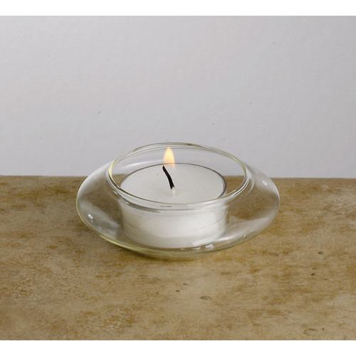 biedermann and sons floating glass tea light candle holders set of 12 - Tea Light Candle Holders
