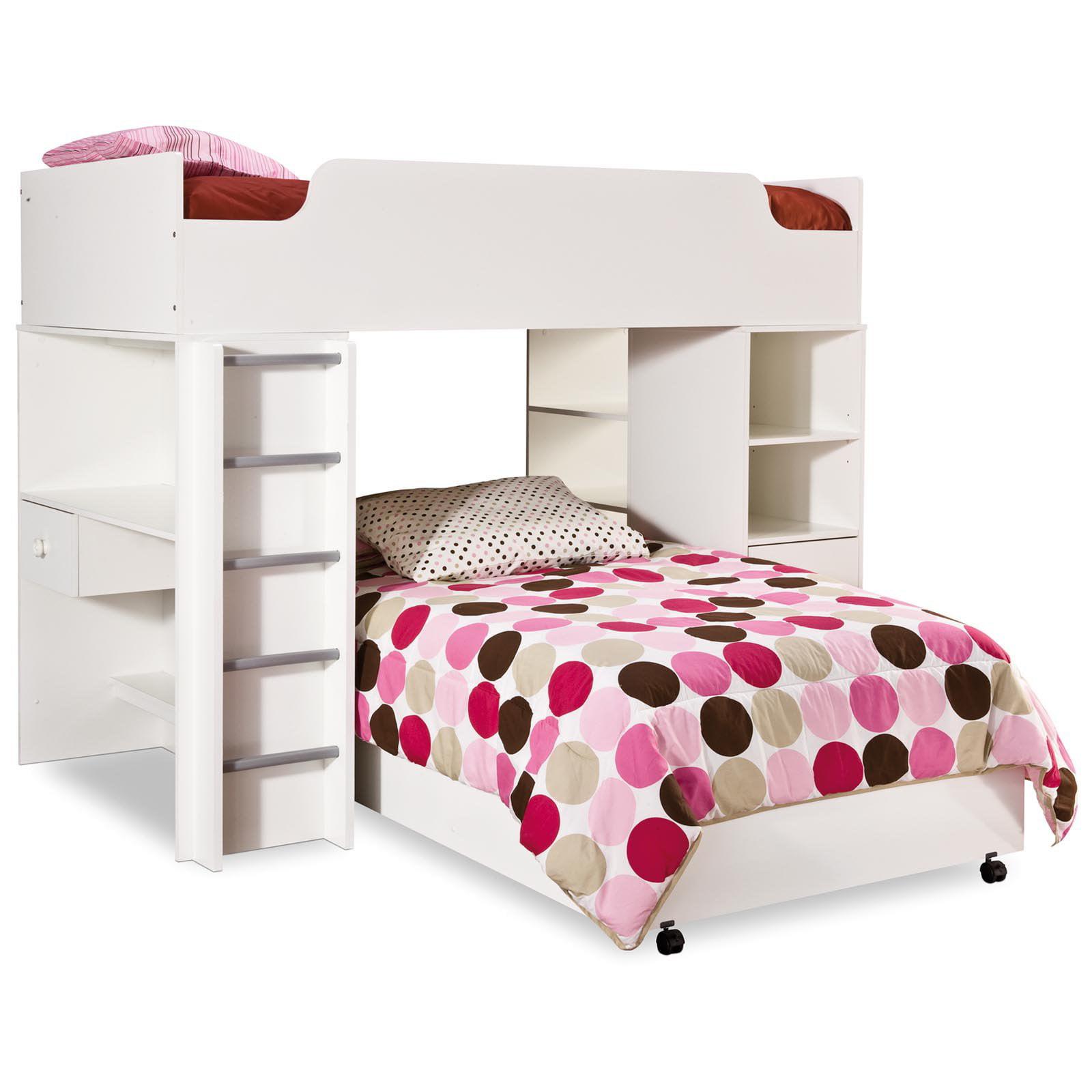South Shore Logik Twin Loft Bed-Pure White