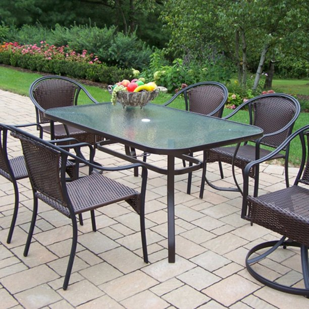 Oakland Living Tuscany All Weather Wicker Patio Dining Set ... on Oakland Living Patio Sets id=47139