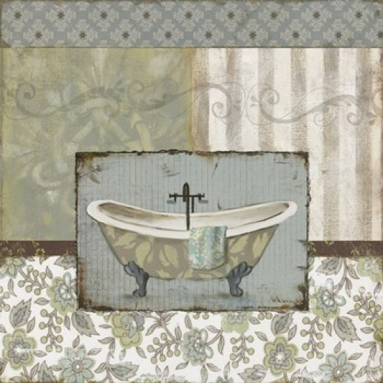 Country Style Bath I Poster Print by Carol Robinson (12 x 12)
