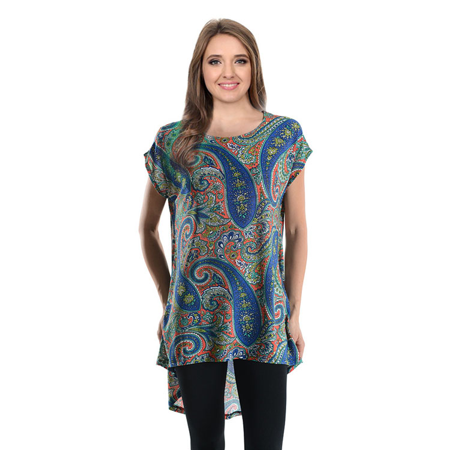 Women's Sleeveless High & Low Solid, Printed Loose Fit Kimono Tunic Top - USA