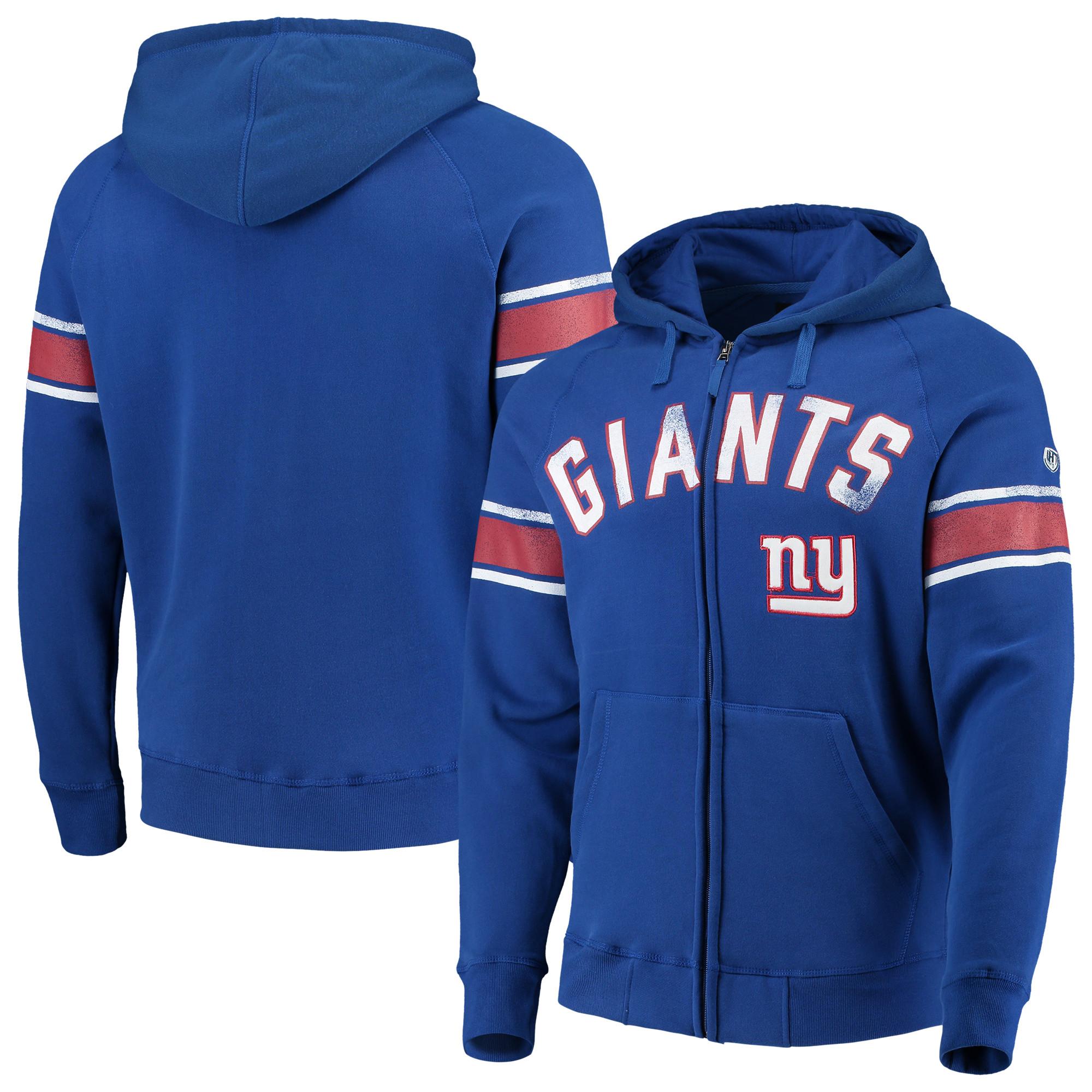 New York Giants Hands High Arena Full-Zip Hoodie - Royal