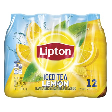 - (2 Pack) Lipton Lemon Iced Tea, 16.9 Fl Oz, 12 Count