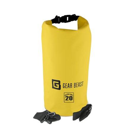 Aloksak Waterproof Bags - Waterproof Dry Bag Sack, Gear Beast Dry Bag Duffel with Removable Shoulder Strap for Boating, Kayaking, Sailing, Fishing, Rafting, Swimming, Camping, Skiing and Snowboarding
