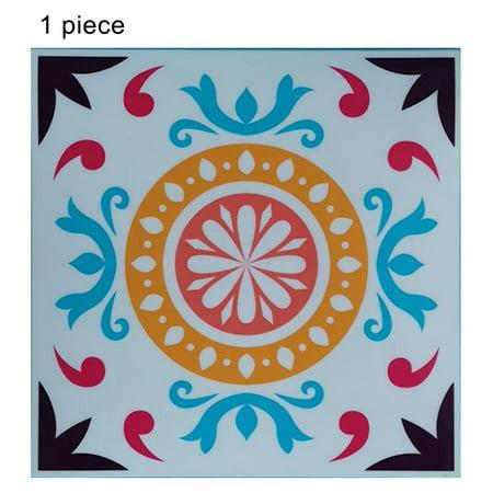 1pc Self Adhesive Retro Tile Stickers Waterproof Pvc