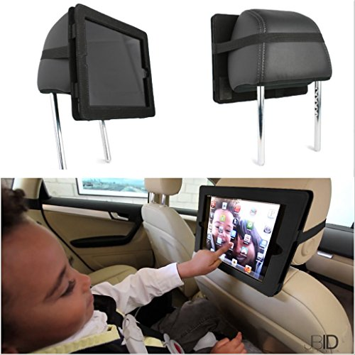 iPad Case Headrest Car Mount | Fits iPad PRO 9.7 - iPad Air - iPad Air 2 | Mounts in Cars, Hand Strap or Hang from Hook | Safe Kids Entertainment | Made in USA - image 1 of 1