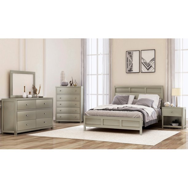Sale 3-Piece Bedroom Sets with Platform Beds, Matching Nightstand