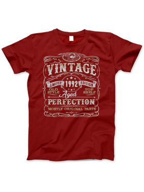 69954384 Product Image 27th Birthday Gift T-Shirt - Born In 1992 - Vintage Aged 27  Years Perfection