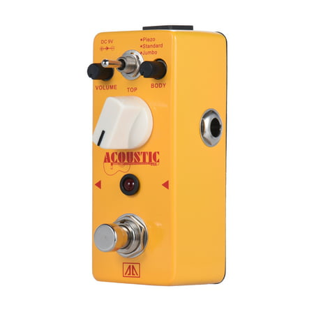 AROMA AAS-5 Acoustic Guitar Simulator Effect Pedal 3 Modes Aluminum Alloy Body True Bypass Acoustic Simulator Pedal