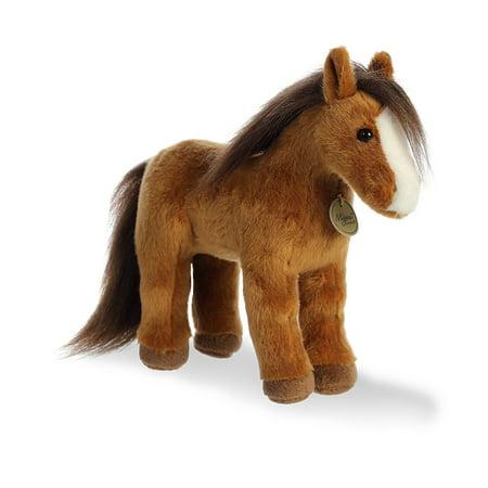 Brown Horse Miyoni 12 Inch - Stuffed Animal by Aurora Plush (26321)