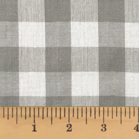 Magnolia Gray Buffalo Plaid Homespun Cotton Fabric Sold by the Yard - JCS Fabric ()
