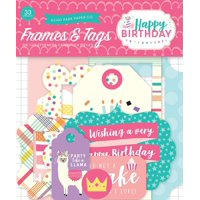 Happy Birthday Girl Frames & Tags Ephemera, Happy Birthday Girl Frames & Tags Ephemera By Echo Park PaperWalmartpany