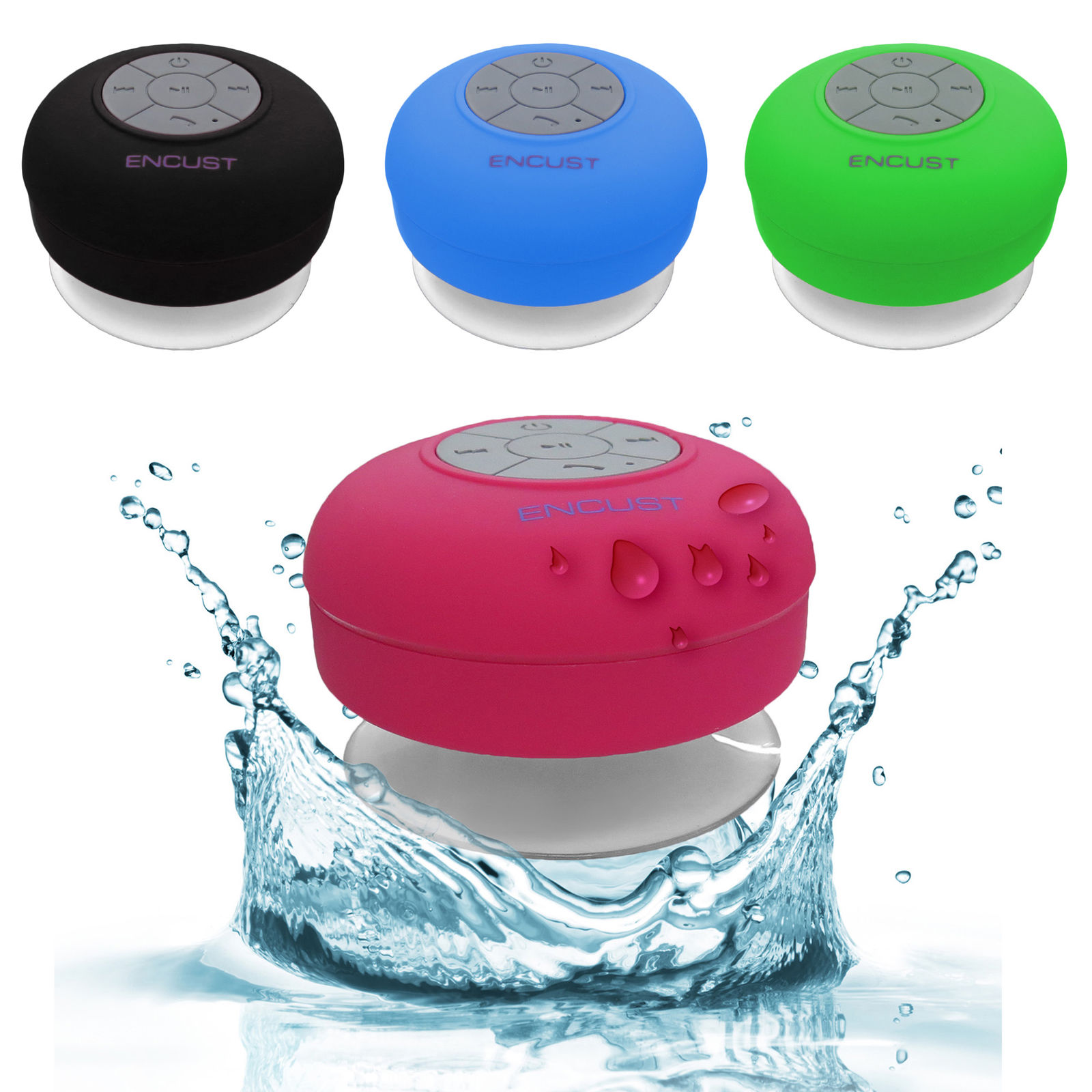 Waterproof Portable Rechargeable Wireless Bluetooth Shower Speaker USB Stereo (Green)