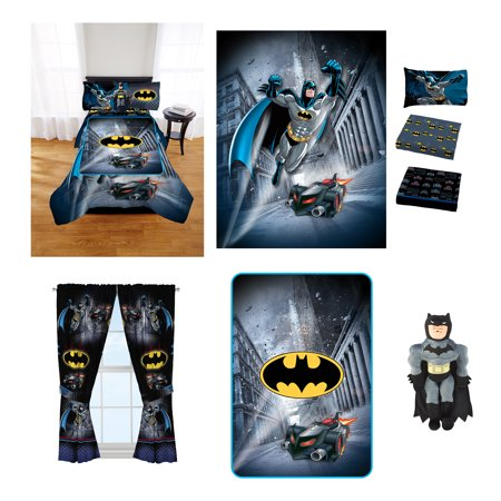Star Rocket Twin Comforter - Batman Guardian Speed Room in a Bag comes with Twin Comforter, Pillow Buddy, Sheet Set, Curtains and Blanket!