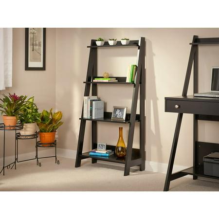 Bush Furniture Alamosa Ladder Bookshelf in Classic