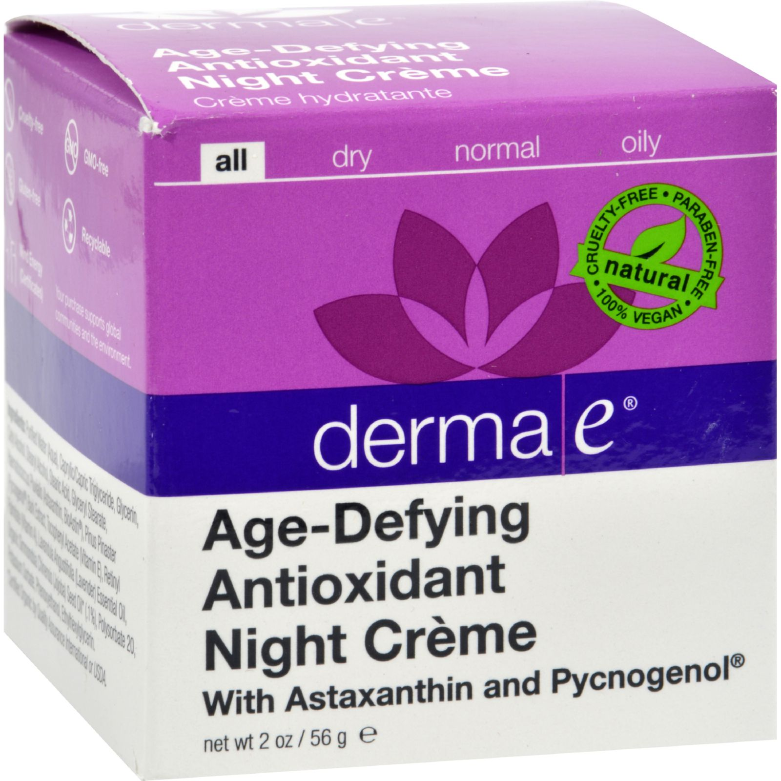 Derma E Age-Defying Night Creme with Astaxanthin and Pycn...