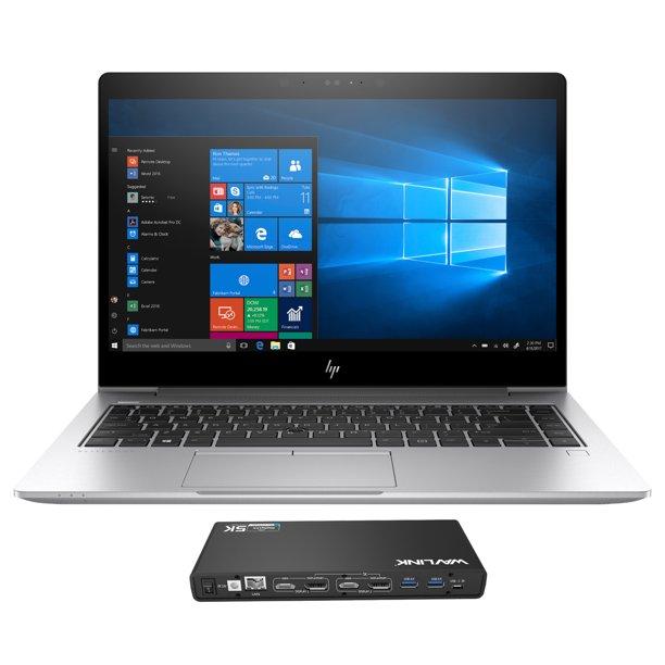 "HP EliteBook 840 G5 Home and Business Laptop (Intel i5-8250U 4-Core, 8GB RAM, 2TB PCIe SSD, 14"" Full HD (1920x1080), Intel UHD 620, Fingerprint, Wifi, Bluetooth, Webcam, Win 10 Pro) with WAVLINK Dock"