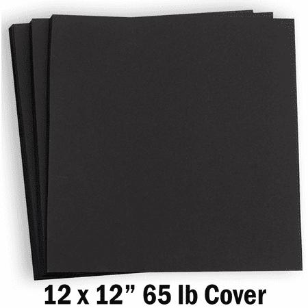 Hamilco Card Stock Scrapbook Paper 12x12 Black Colored 65lb Cardstock – 25 Pack Cardstock 12x12 Scrapbook Paper
