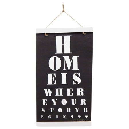Home is Where Your Story Begins Wall or Door Hanging Banner Decor, 18x32
