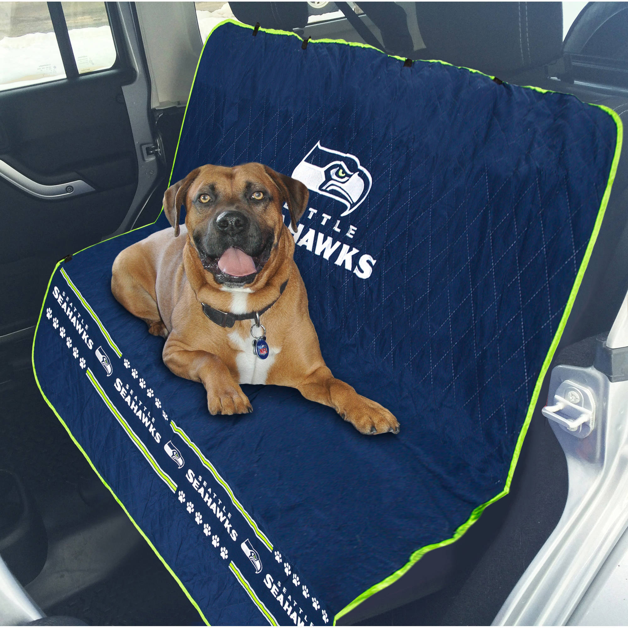 Pets First NFL Seattle Seahawks Car Seat Cover