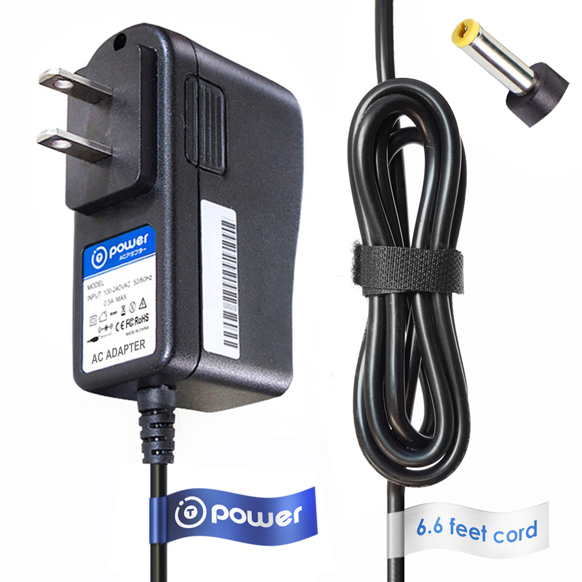 T-Power (6.6ft Long Cable) AC/DC AC adapter Charger for Kodak EasyShare Video Digital Pocket Camera P712 P880 V1003 V1073 V1233 V1253 V1273 V530 V550 V570 V603 V610 V705 V803 Z1015 Is Z730 Z7590 Z760