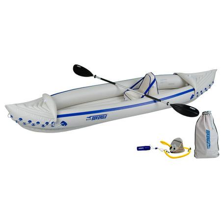 Sea Eagle SE370 Inflatable Sports Kayak Pro Solo (Sea Eagle Se370 Inflatable Kayak With Pro Package)